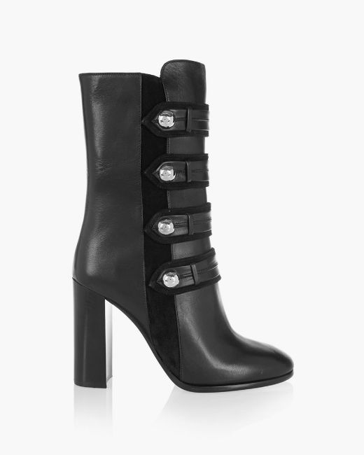 Picture of Textured-leather Ankle Boots