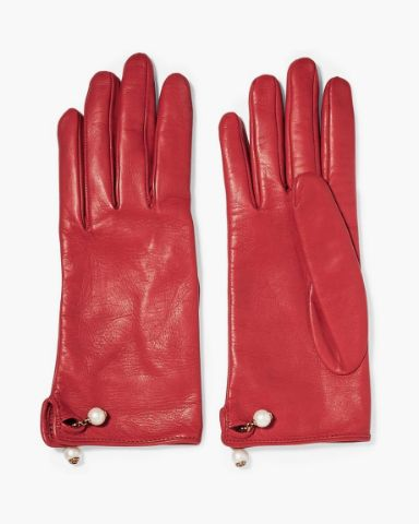 Picture of Eyelet-embellished Suede Gloves