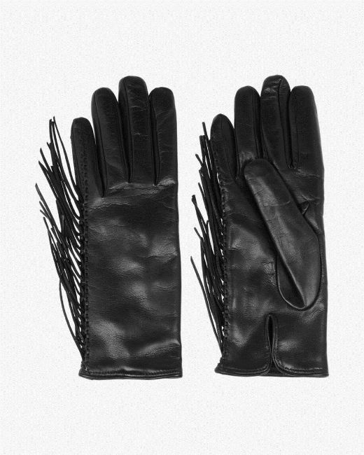 Picture of Leather and Stretch-mesh Gloves