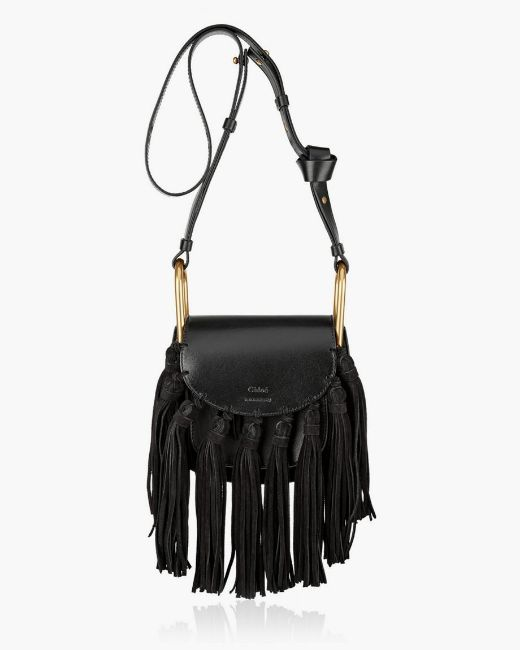Picture of Suede and Leather Shoulder Bag