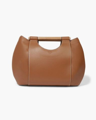Picture of Leather-trimmed Canvas Tote